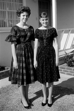 Sandy (17) and Claudia (15) in 1961