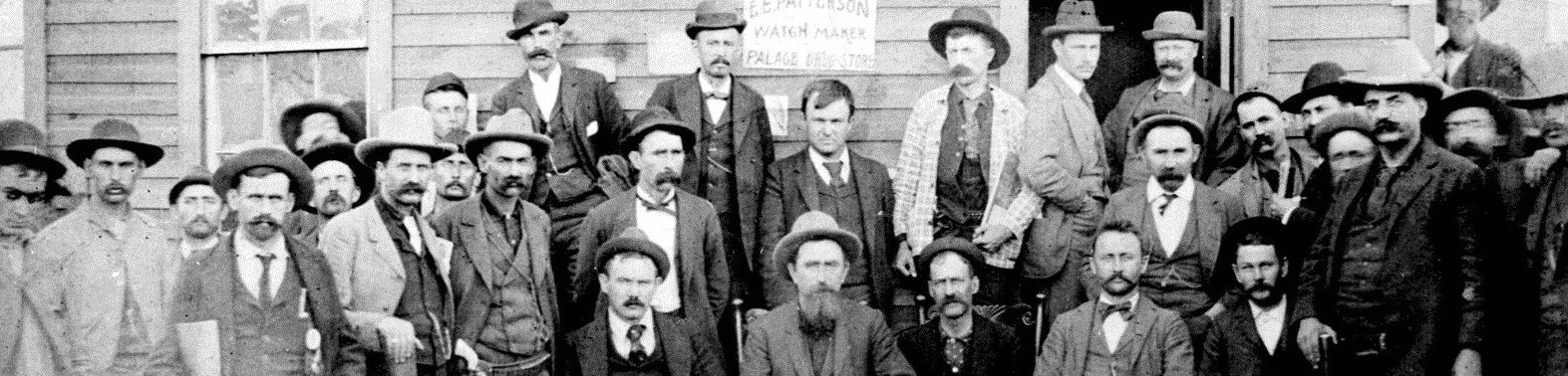 Clerical force and U. S. Deputy Marshals at the U.S. Land Office in Okla. Terr., in 1893